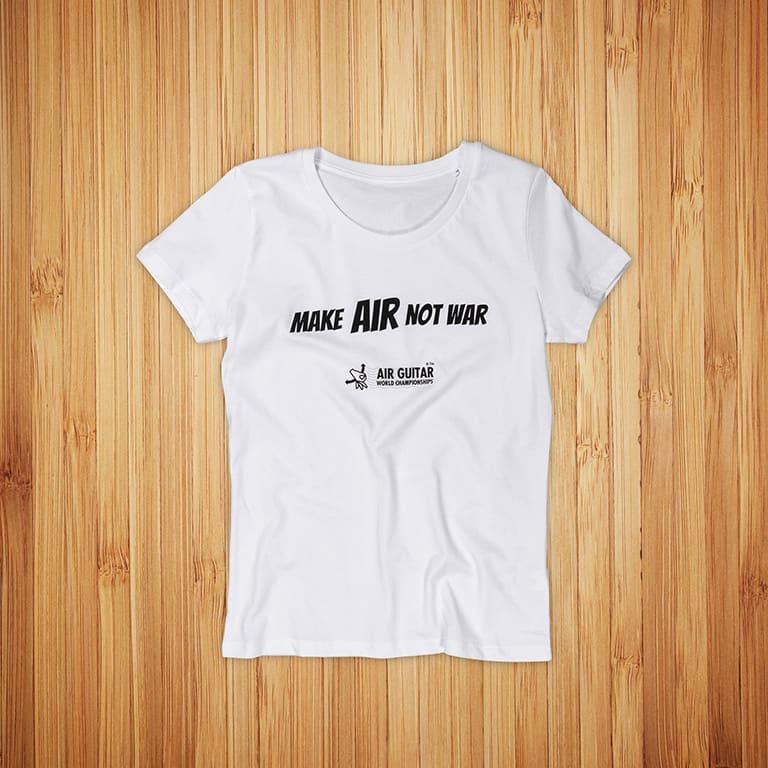 Air Guitar World Championship t-paitojen painatus