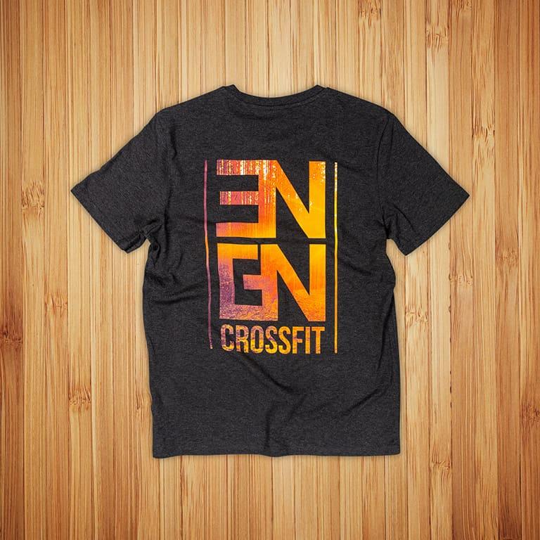 North Engine Crossfit t-paitojen painatus