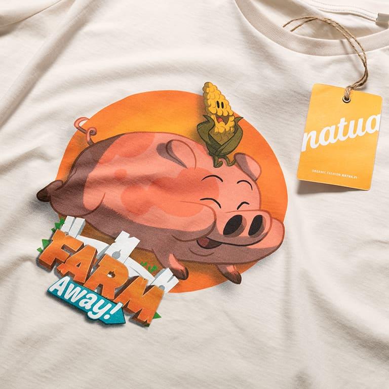 T-paidat Painatuksella Farm Away