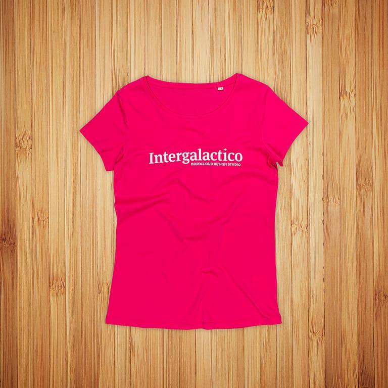T-paidat painatuksella Intergalactico