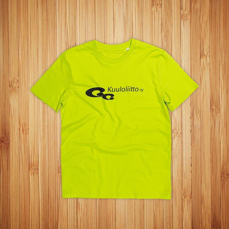 T-paidat painatuksella Kuuloliitto