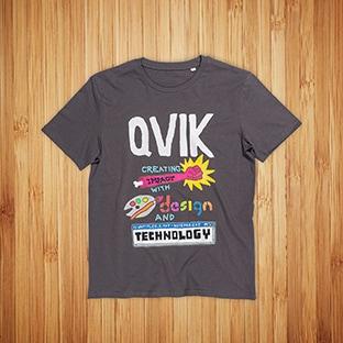 T-paidat painatuksella Qvik