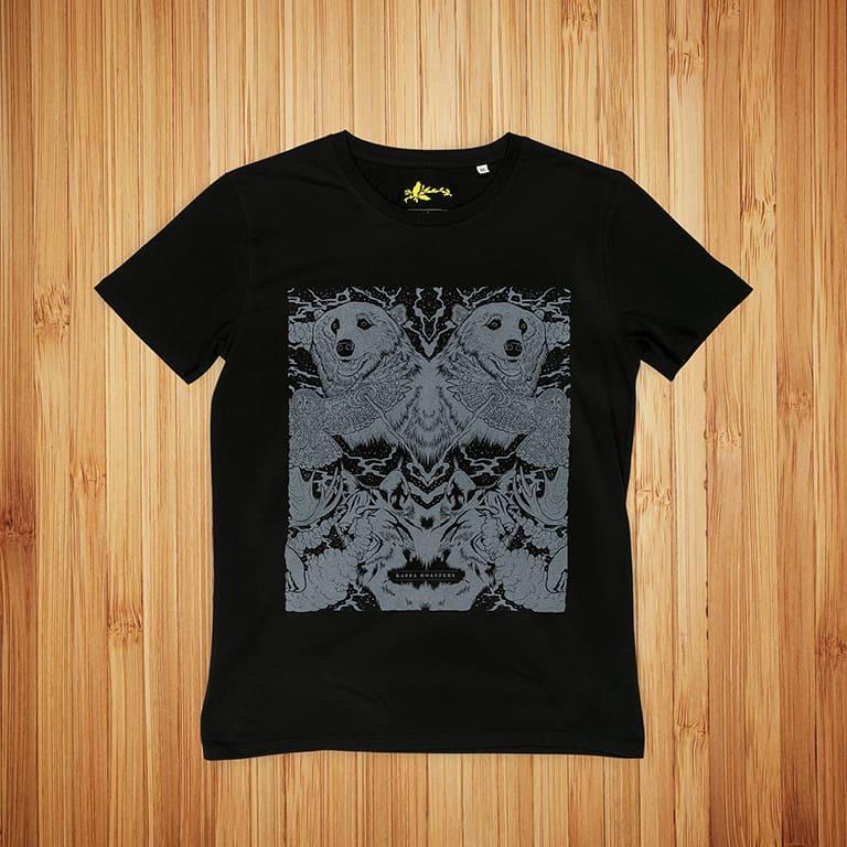 T-Paidat Painatuksella Kaffa Roastery Musta T-paita