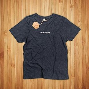 T-paitojen painatus Autosave, Kierrätysmateriaaleista valmistettu t-paita