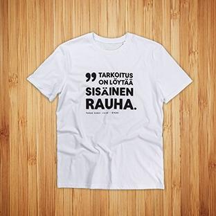 T-paitojen painatus CMore, valkoinen t-paita