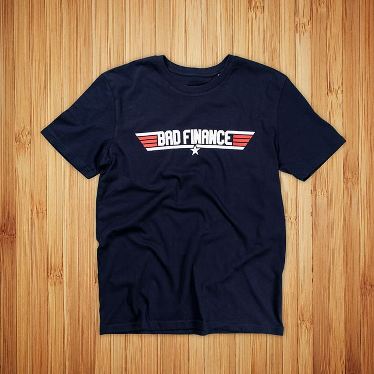 T-paitojen painatus Futurice, Bad Finance