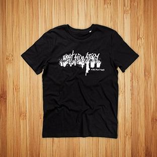 T-paitojen painatus West Side Story, musta t-paita