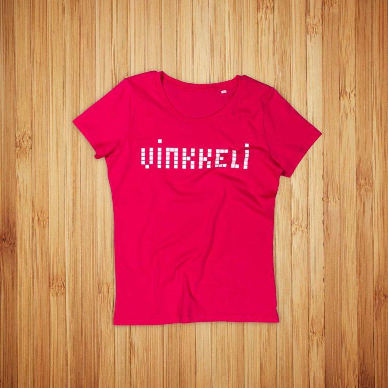 Vinkkeli naisten t-paitojen painatus
